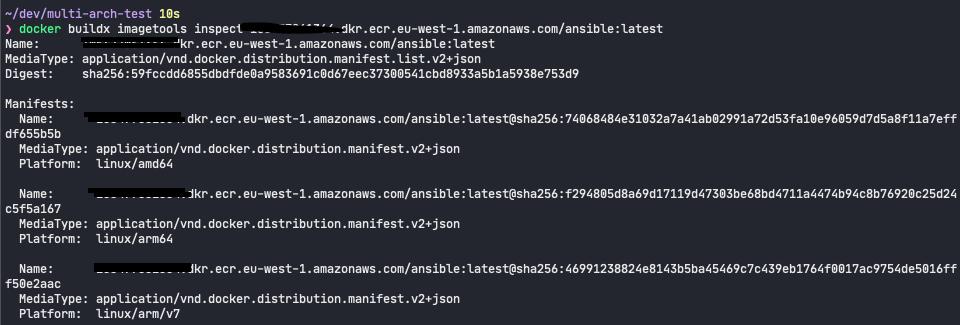 Docker Multi arch test